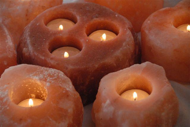žvakės himalajų druska